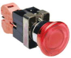Pushbutton, 22mm metal, latch with twist-to-release, incandescent... -- GCX1226-120 - Image