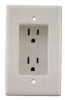 Construct Pro Single Gang Recessed Dual Power Outlet, UL listed -- CON1000