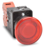Pushbutton, 22mm plastic, latch with twist-to-release, ... -- GCX3226-24