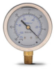 -30 to 0in Hg Liquid fill vacuum Pressure Gauge 2.5in mechanical dial -- G25-SLV-4LB - Image