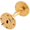 WR-22 90 Degree Waveguide Twist Using a UG-383/U Flange and a 33 GHz to 50 GHz Frequency Range -- FMW22TW001 - Image