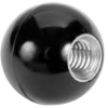 Plastic Ball Knob: 1/2-13 Thread x 1-3/8 Ball Dia. -- 43608 - Image