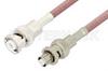 MHV Male to SHV Plug Cable 36 Inch Length Using RG142 Coax, RoHS -- PE3085LF-36 -Image