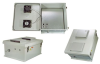 18x16x08 Fiberglass Reinf Polyester FRP Weatherproof Outdoor IP24 NEMA 3R Enclosure, PoE MNT PLT, Solid State Thermostat 48 VDC Fan Gray -- TEF181608-40FS -- View Larger Image