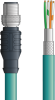 LAPP ETHERLINE® Ethernet Single-Ended Cordset: 4 Pair CAT5e - 8 position male M12 straight connector to Wire Leads - Teal Polyurethane (PUR) - C5E003F10 - 10m -- OLFC5E003F10 -Image