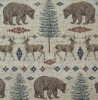 Bear and Deer Rug Chenille Fabric -- R-Ottawa - Image