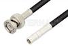 SMB Plug to BNC Male Cable 60 Inch Length Using RG223 Coax -- PE3236-60