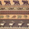Canoe/Elk/Fish/Bear Frieze Chenille Fabric -- RH-Gatlinburg - Image