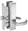 Mortise Lockset w/Escutcheon,Passage -- 4ECN4