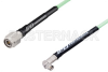 SMA Male Right Angle to TNC Male Low Loss Cable 48 Inch Length Using PE-P142LL Coax, RoHS -- PE3C1179-48 -Image