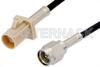 SMA Male to Beige FAKRA Plug Cable 48 Inch Length Using RG174 Coax -- PE39197I-48 -Image