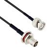BNC Male to BNC Female Bulkhead Mount Using Flexible RG174 Coax Cable 12