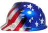 MSA Hard Hat, Freedom Series V-Gard Series w/ Fas-Trac Suspension -- 10052945