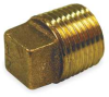 Cored Plug,1-1/4In,No Lead Red Brass -- 6RCV2 - Image