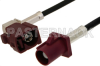 Bordeaux FAKRA Plug to FAKRA Jack Right Angle Cable 24 Inch Length Using PE-C100-LSZH Coax -- PE38749D-24 -Image