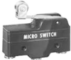 MICRO SWITCH BZ Series Premium Large Basic Switch, Single Pole Double Throw Circuitry, 15 A at 250 Vac, Roller Lever Actuator, 1,67 N [6 oz] Maximum Operating Force, Silver Contacts, Screw Termination -- BZ-2RW8225551-A46 -Image