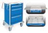 3 Drawer Short Lightweight Aluminum Crash Cart -- USBLA-399-ELB