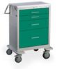 4 Drawer Short Steel Anesthesia Cart -- USGKU-4369-FWG