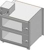 Standard Welded Stainless Steel 2 Door Single Tier Desiccator (a.k.a. Desiccator Cabinet, Dry Box, Dry Storage Cabinet, or Low-Humidity Storage Cabinet) -- CAP19S-SST-2DR-SGL-24Wx18Hx24D-3B