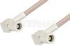 75 Ohm Mini SMB Plug Right Angle to 75 Ohm Mini SMB Plug Right Angle Cable 72 Inch Length Using 75 Ohm RG179 Coax -- PE34694-72 -Image
