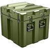 Pelican AL2624-1805 Single Lid Cube Shipping Case - No Foam with Casters - Olive Drab -- PEL-AL2624-1805RPC137 -Image
