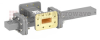 20 dB WR-112 Waveguide Crossguide Coupler with CPR-112G Flange and SMA Female Coupled Port from 7.05 GHz to 10 GHz in Bronze -- FMWCT1088 -Image