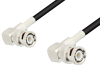 BNC Male Right Angle to BNC Male Right Angle Cable 36 Inch Length Using RG58 Coax -- PE3025-36 -Image