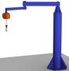Free Standing Articulating Jib Crane, 1000 lb. Capacity -- AJ360-F Series - Image