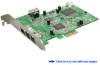 4-Port FireWire 1394a/1394b PCI Express (x1) Card -- PEFW330