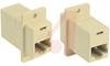 Modular Coupler; RJ45; Straight; Ivory -- 70126095