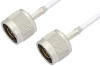 75 Ohm N Male to 75 Ohm N Male Cable 60 Inch Length Using 75 Ohm RG187 Coax -- PE3581-60 -Image
