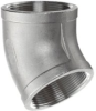 304 Stainless Steel Cast Pipe Fitting, 45 Degree Elbow, … - Image