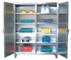 Stainless Steel Double Shift Cabinet -- 35-DS-246SS