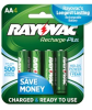 2400 mAh NiMH AA 4-pack Recharge Plus Batteries -- PL715-4B - Image