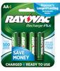 2400 mAh NiMH AA 4-pack Recharge Plus Batteries -- PL715-4B