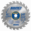 Irwin 24029CL Marathon Carbide Thin Kerf Blade For Framing / -- BLADECARFRA24T612MAR
