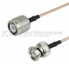 BNC Male to BNC Male Cable RG-316 Coax in 12 Inch and RoHS Compliant -- FMC0308315LF-12 - Image