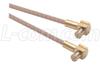 RG316 Coaxial Cable, MCX 90º Plug / 90º Plug, 1.0 ft -- CCSM316-1
