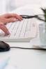 Washable Office Keyboard, CleanDesk -- TKL-105-IP68-KGEH-GREY