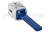 WR-42 Waveguide Isolator from 18 GHz to 26.5 GHz, 18 dB Typical Isolation, UG-597/U Cover Flange -- PEWIR1010 -Image
