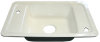 Barrier-free, White Acid-resisting Enameled Iron, Deck Mounted Sink 24