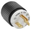 20A Electrical Plug: straight blade, 125VAC, NEMA 5-20 -- BRY5366NP