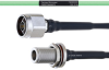 Temperature Conditioned Low Loss N Male to N Female Bulkhead Cable LL160 Coax in 24 Inch -- FMHR0220-24 -Image