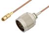 N Male to SSMC Plug Cable 24 Inch Length Using RG178 Coax -- PE3C4399-24 -Image