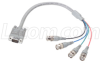 VGA Breakout Cable, DB9 Male / 4 BNC Male, 1.5 ft -- CTL4CAD-1.5 - Image