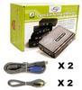2-Port Linkskey Slim Palmtop USB Audio & Mic KVM Switch w/ Cables -- LKU-S02ASK - Image