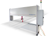 Non-Contact Thickness Measurement Of Metal, O-Frame With Laser Line Sensors -- ThicknessCONTROL MTS 8201.LLT -Image