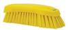 scrub brush w/stiff bristle yellow -- 61990 -- View Larger Image