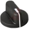 Knob; Thermoplastic Overmold; 1-5/8 in.; 1/2 in.; 61/64 in.; Phenolic/Nylon -- 70097699