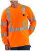 Men's High-Visibility Class 3 Long-Sleeve Work-Dry T-Shirt -- CAR-K257